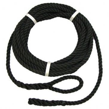 ROPE MOORING 12MM X 10M BLACK